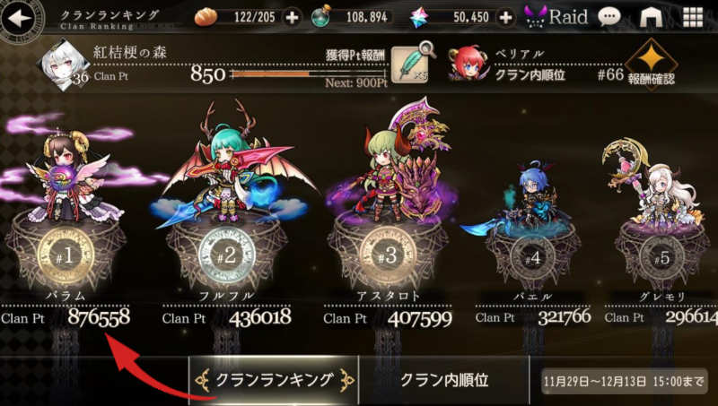 clan battle 1 clan ranking