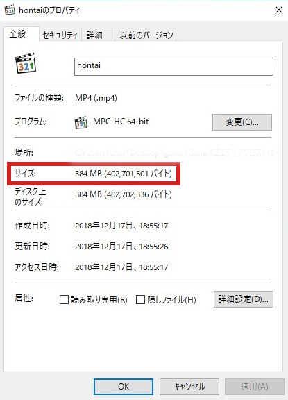 handbrake file size