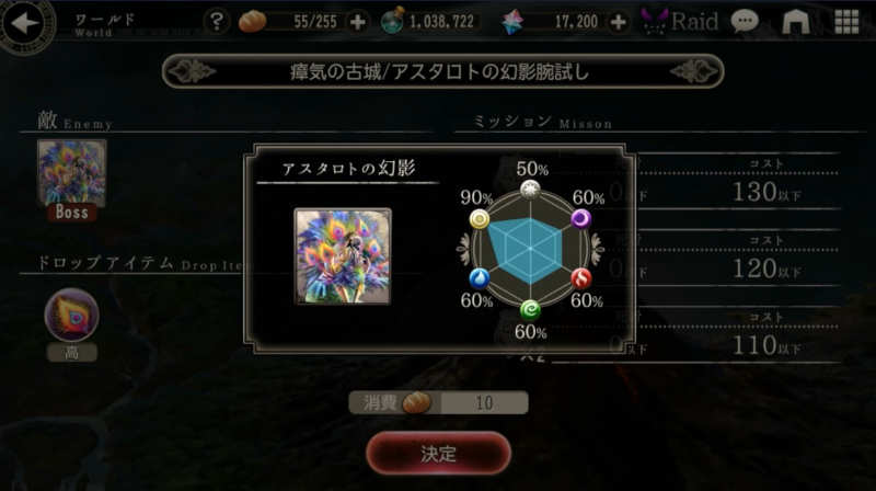 astaroth phantom try out resistance